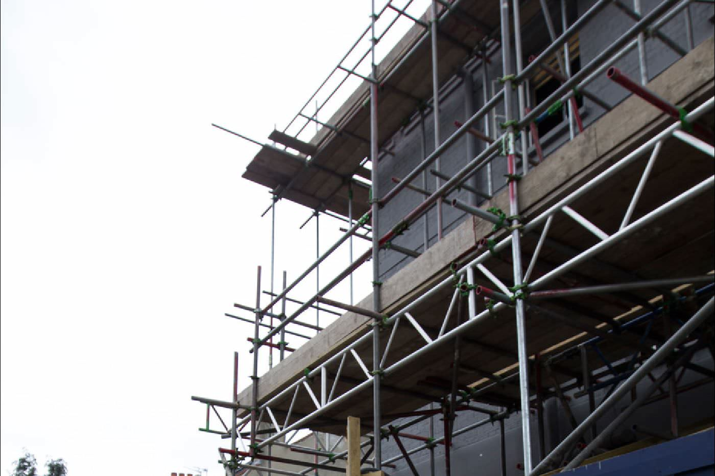 building scaffolding